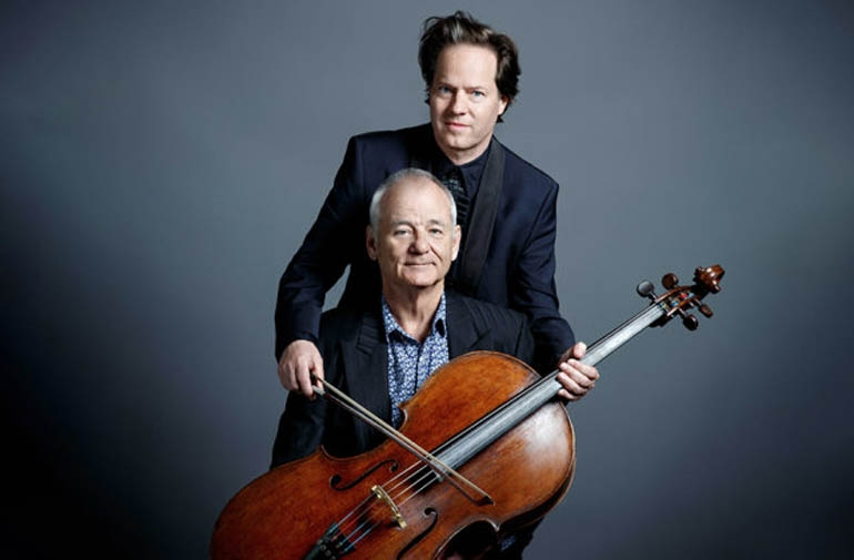 Bill Murray and German cellist Jan Vogler