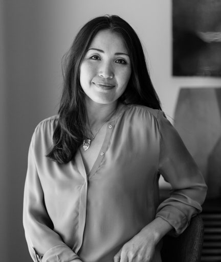 Portrait of the Humming Cup Premium Organic Tea founder,  Jazeera Aitzhanova