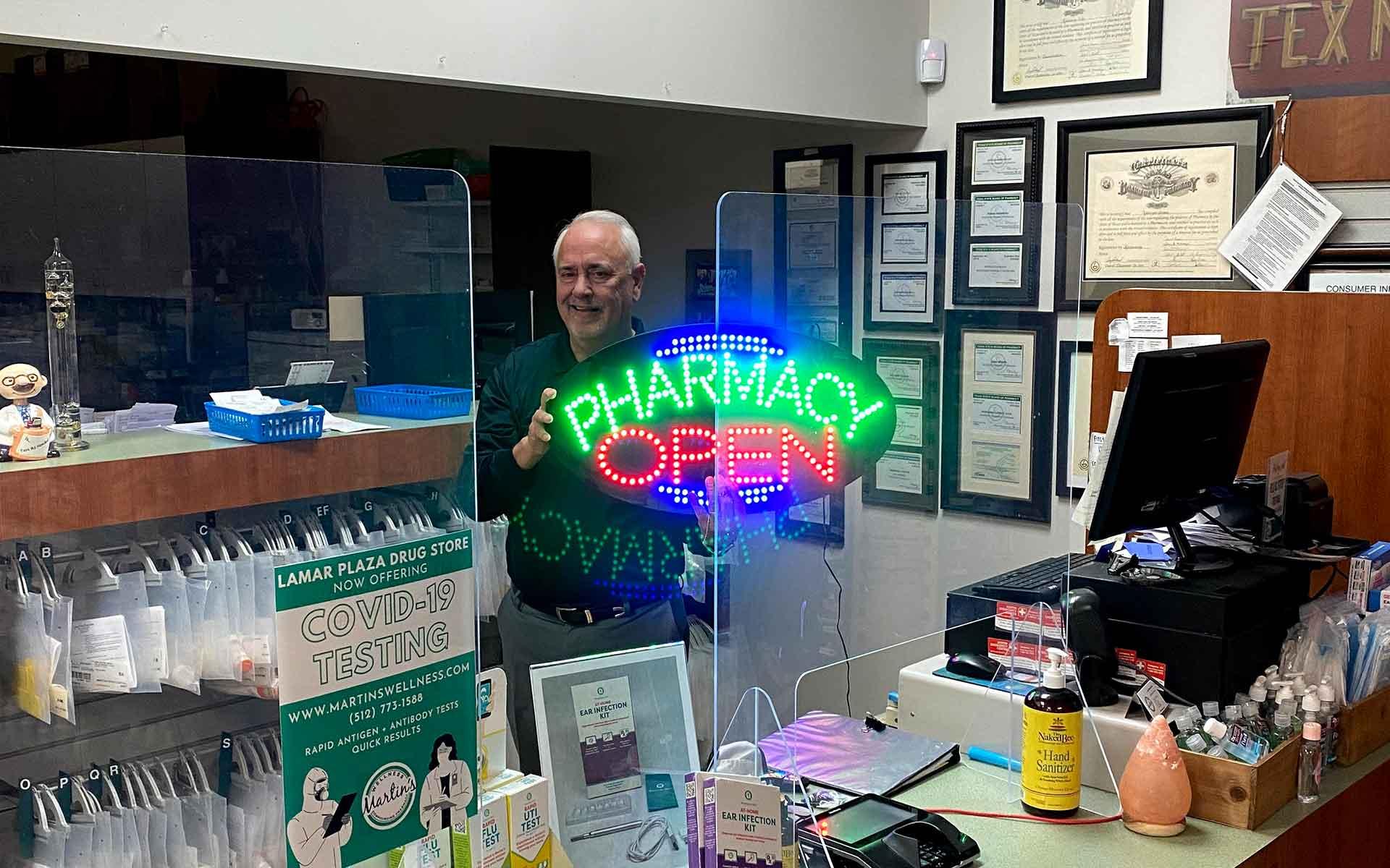 Jim at pharmacy