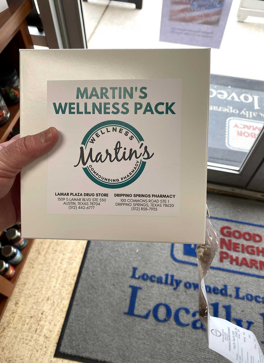 Martin's Wellness Pack Front