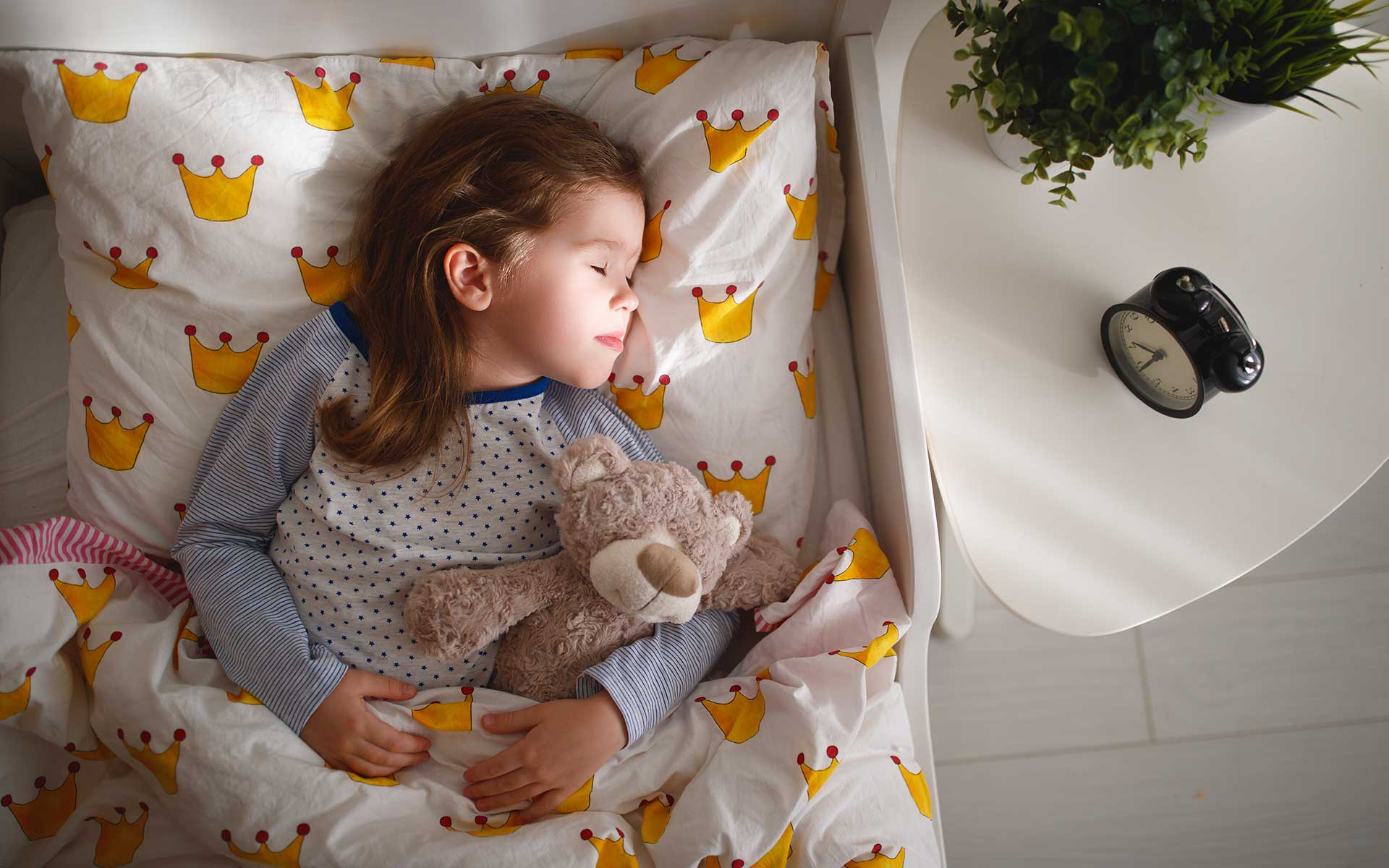 Eight hour sleep as an immunity booster for a child