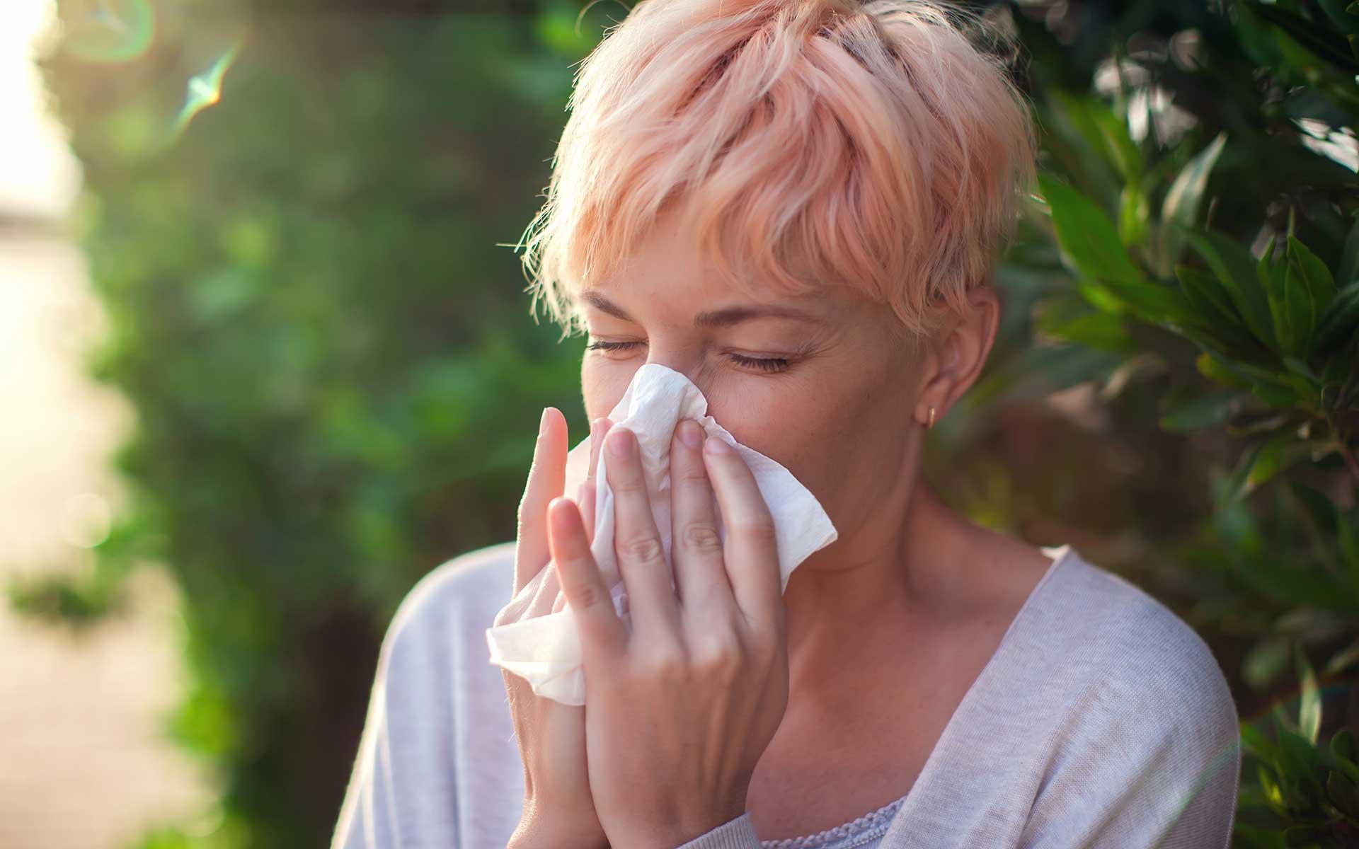 Woman having a flu